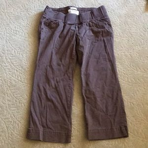 Old Navy Cropped Elastic Waist Maternity Pants